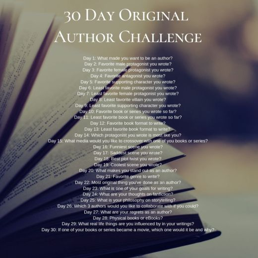 30 Day Original Author Challenge