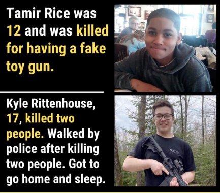 Tamir Rice Kyle Rittenhouse credit to Ryan J Downey